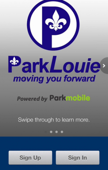 Park Louie Home Screen